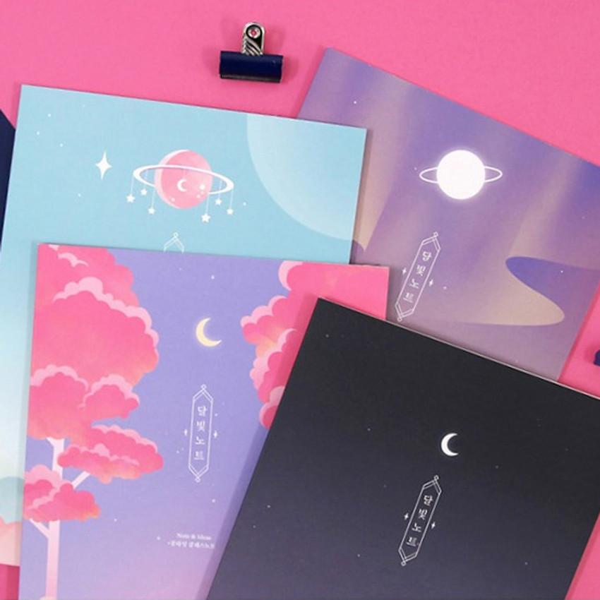 Moonlight B5 size grid-lined class notebook