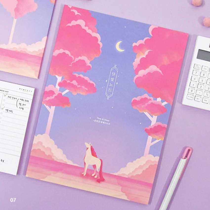 07 - Moonlight B5 size grid-lined class notebook