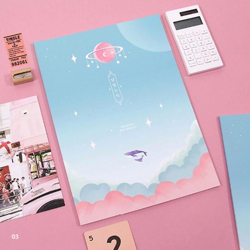 03 - Moonlight B5 size grid-lined class notebook