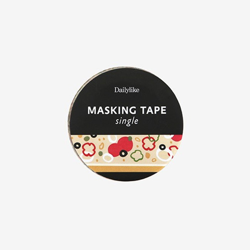 Package for Pizza single roll washi masking tape