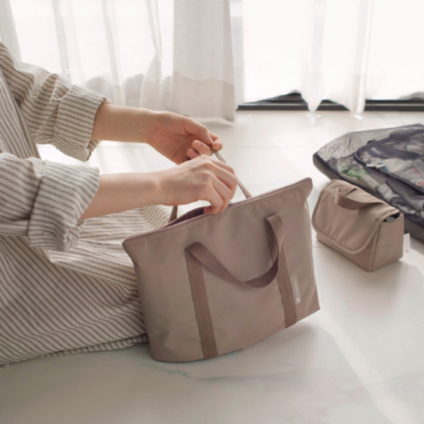 Byfulldesign Travelus travel medium zipper tote bag