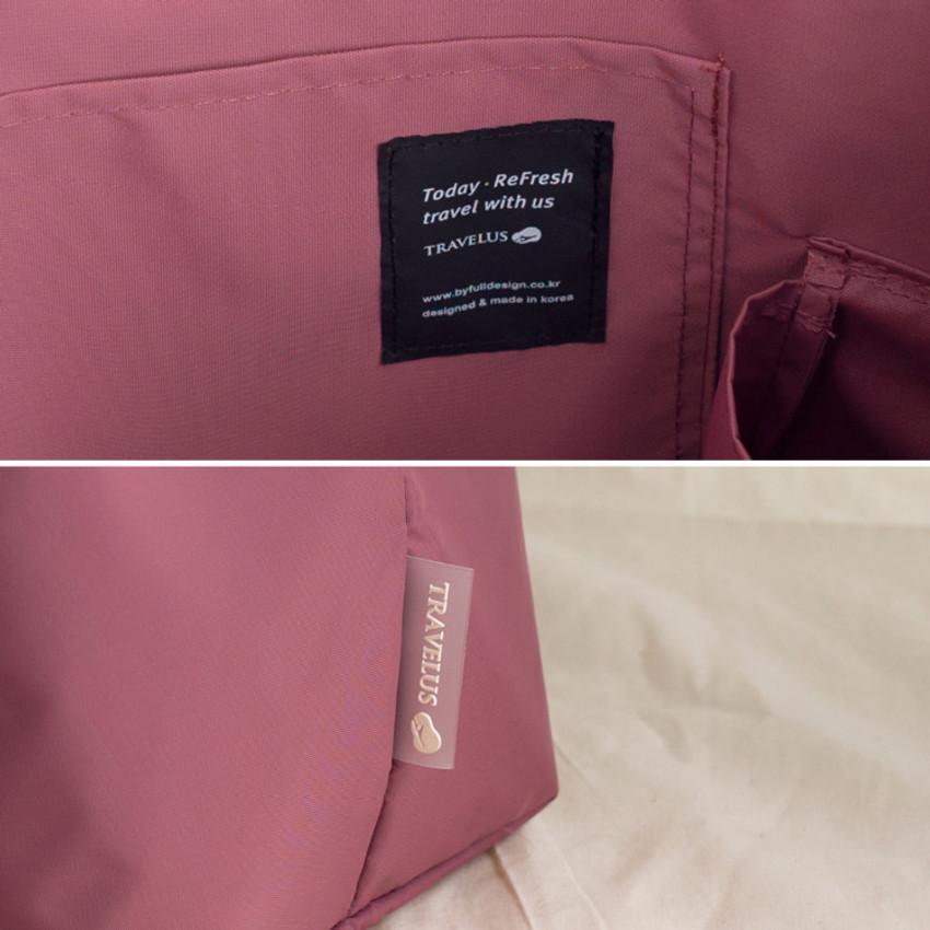 Byfulldesign Travelus travel pocket drawstring shoulder tote bag