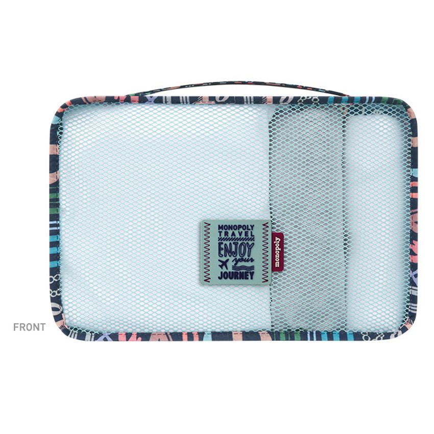 Front - Enjoy journey travel clothes small mesh bag packing aids