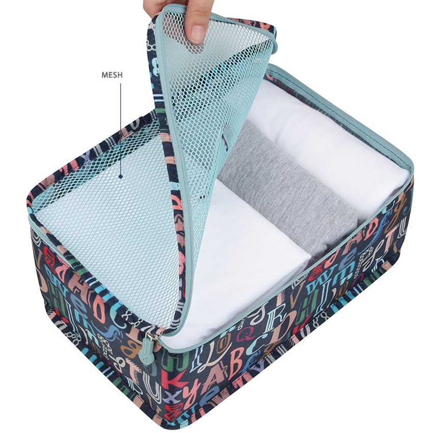 Enjoy journey travel clothes small mesh bag packing aids