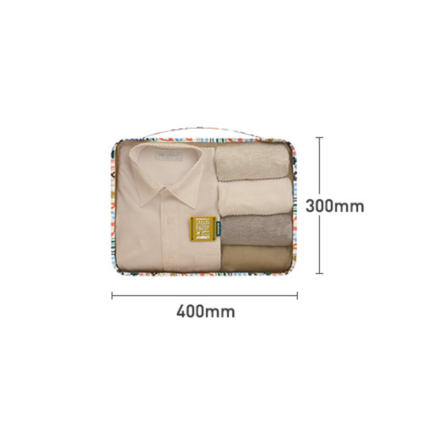 Size - Enjoy journey travel clothes large mesh bag packing aid