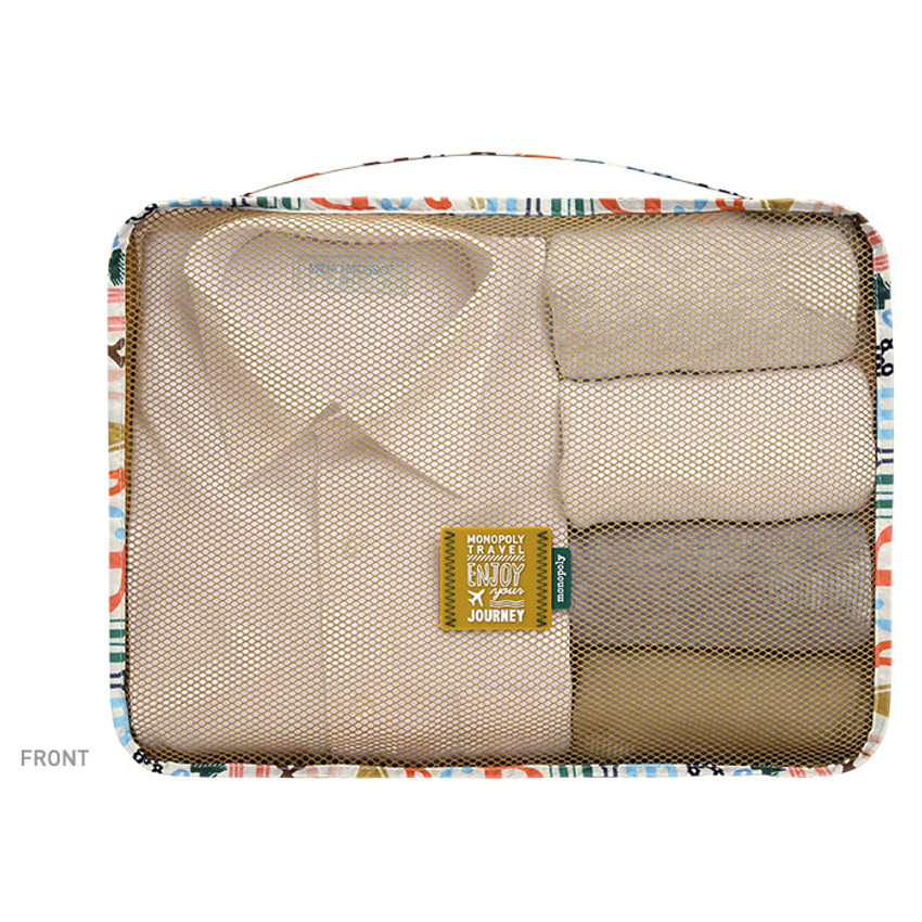 Front - Enjoy journey travel clothes large mesh bag packing aid