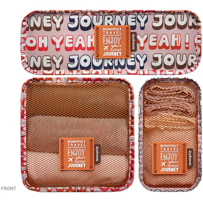 Front - Enjoy journey mesh bag packing aids block pouch set