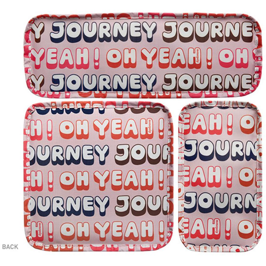 Back - Enjoy journey mesh bag packing aids block pouch set