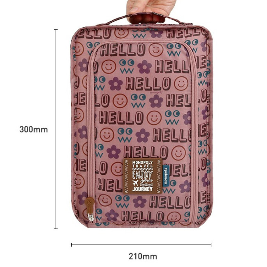 Size - Monopoly Enjoy journey travel zip shoes pouch bag
