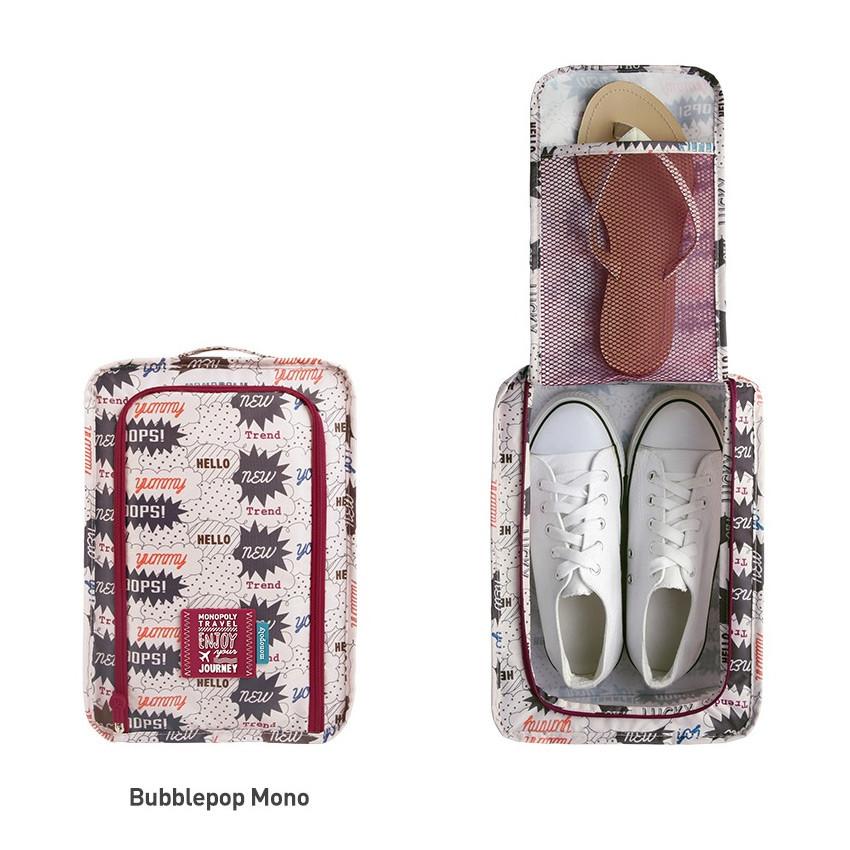 Bubblepop mono - Monopoly Enjoy journey travel zip shoes pouch bag