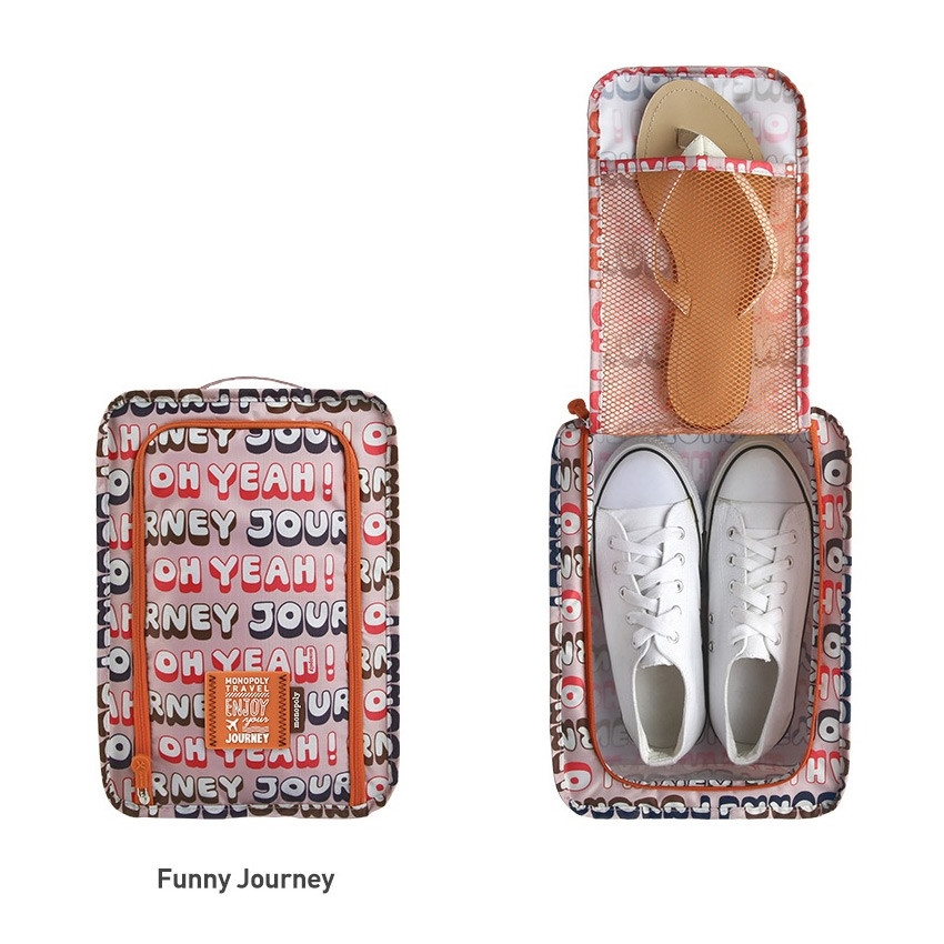 Funny journey - Monopoly Enjoy journey travel zip shoes pouch bag