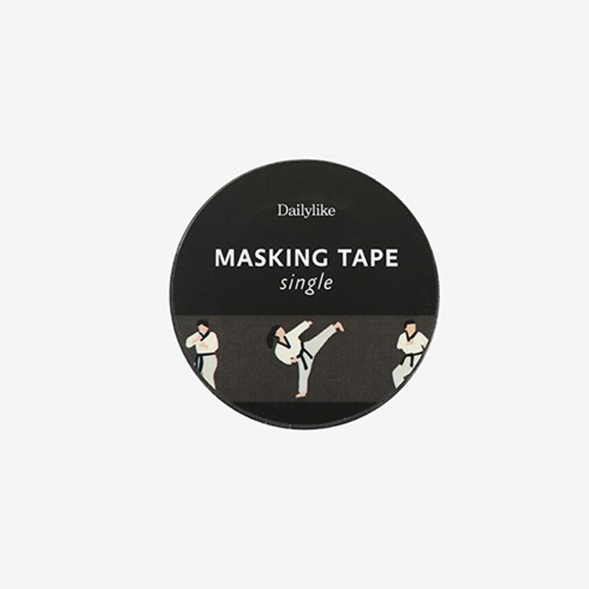 Package for Taekwondo single roll washi masking tape