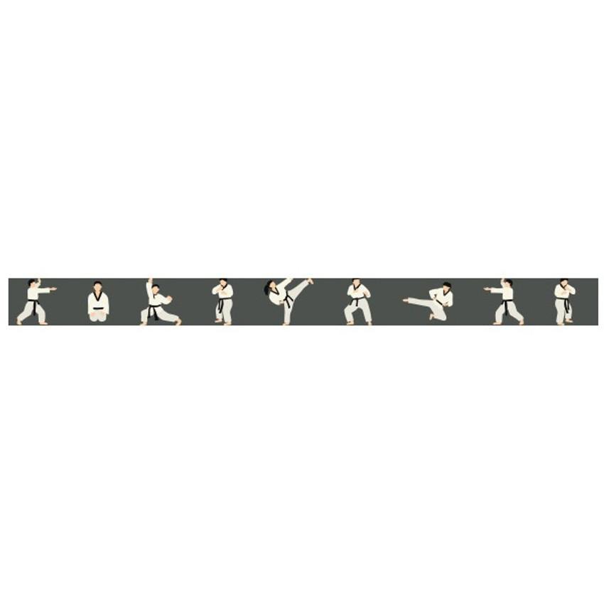 Detail of Taekwondo single roll washi masking tape