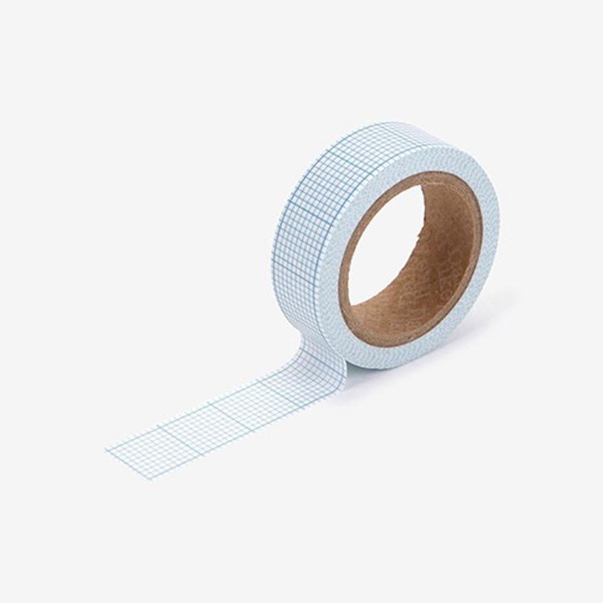 Graph paper single roll washi masking tape