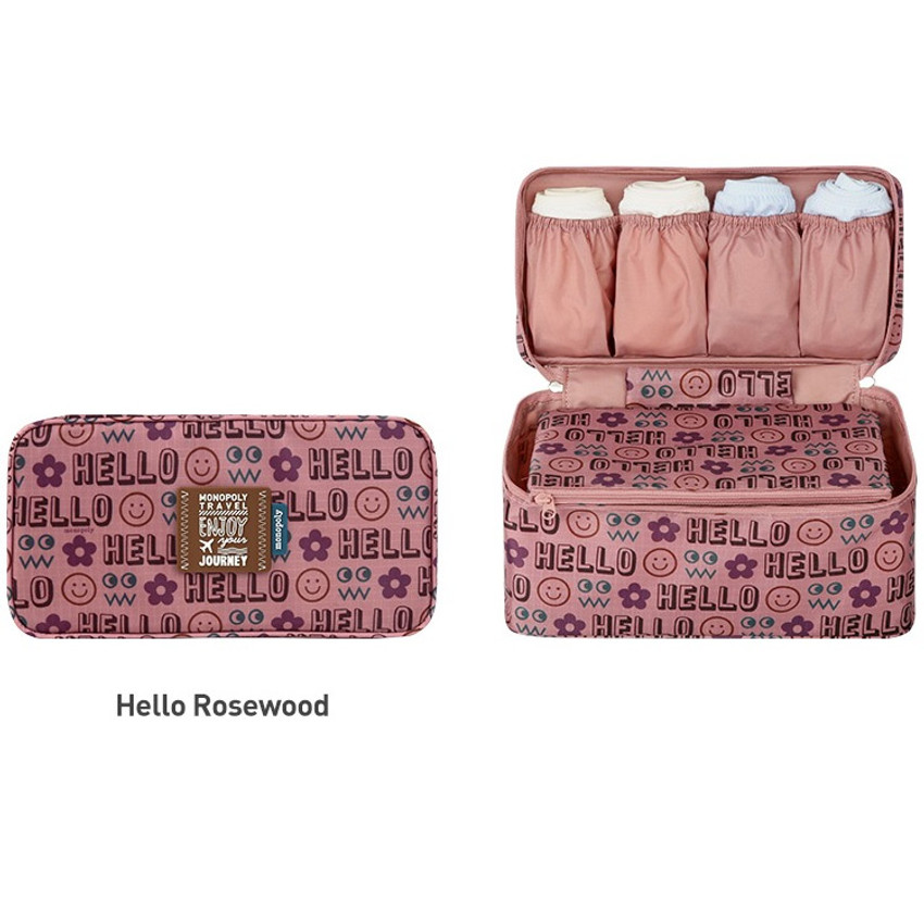 Hello rosewood - Monopoly Enjoy journey travel pouch bag for underwear and bra
