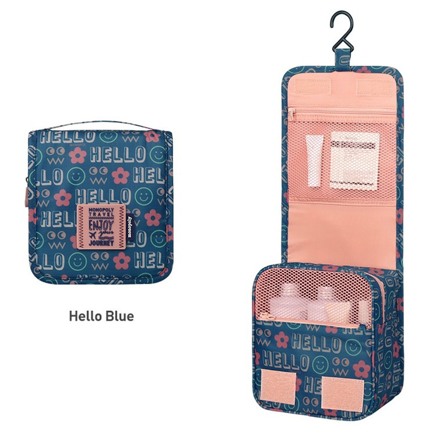 Hello blue - Monopoly Enjoy journey small travel hanging toiletry pouch bag
