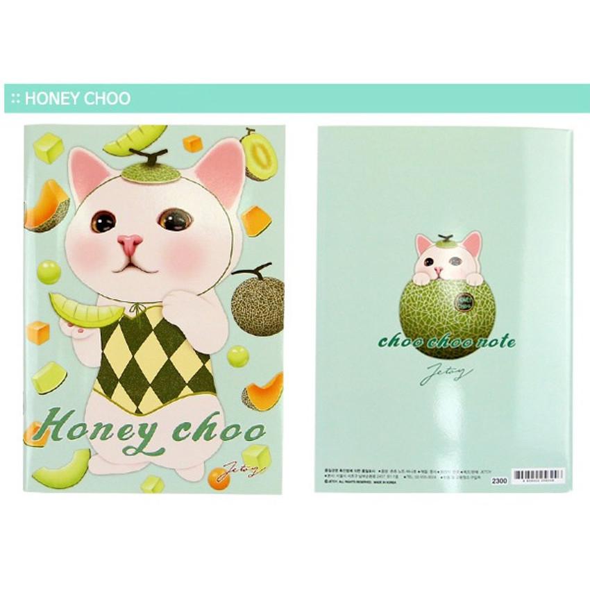 Honey choo - Choo Choo cat A5 ruled lined notebook ver2