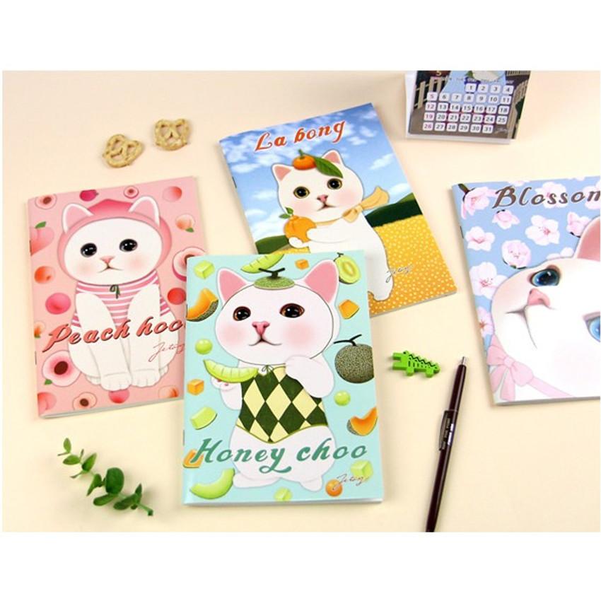 Choo Choo cat A5 ruled lined notebook ver2