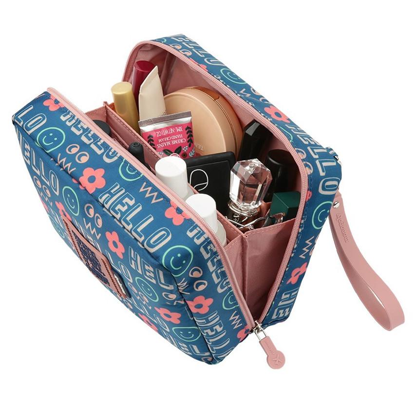 Monopoly Enjoy journey travel large multi zipper daily pouch