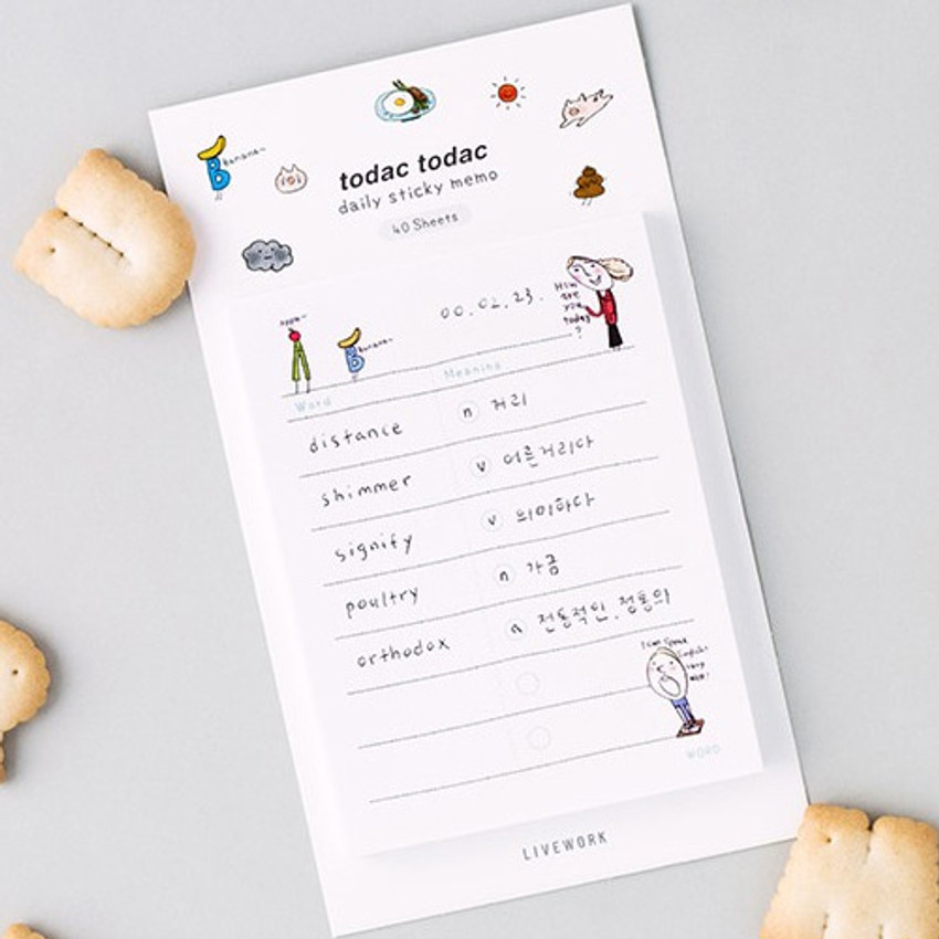 Word - Todac Todac illustration daily sticky notepad memo
