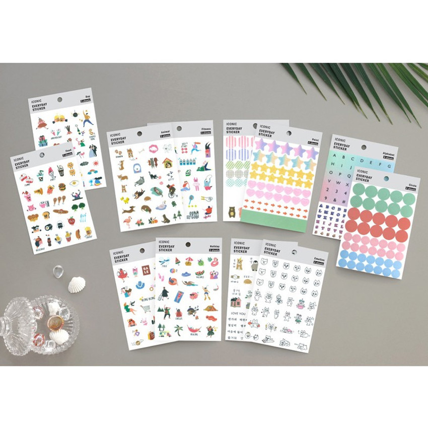 Everyday deco clear sticker set