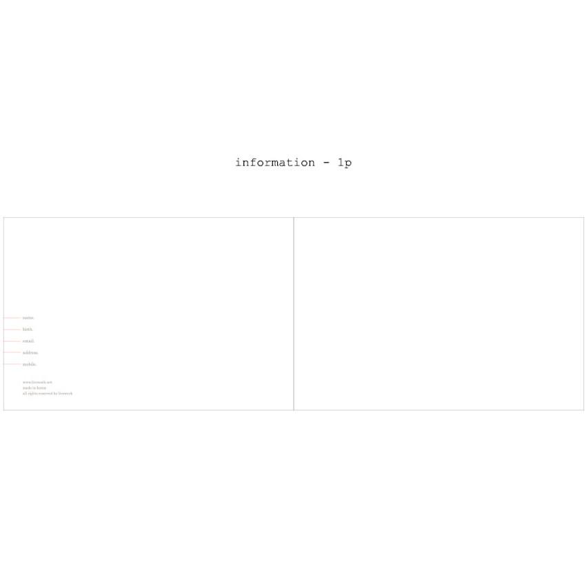 Information - Moment undated weekly planner scheduler