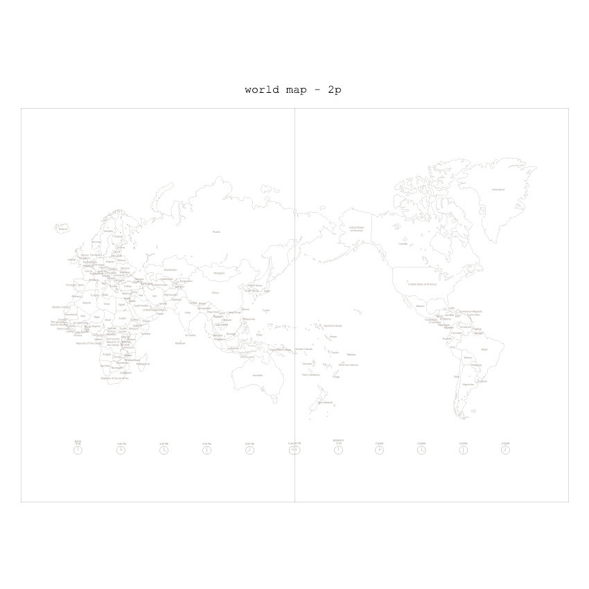 World map - 2019 Moment dated weekly diary
