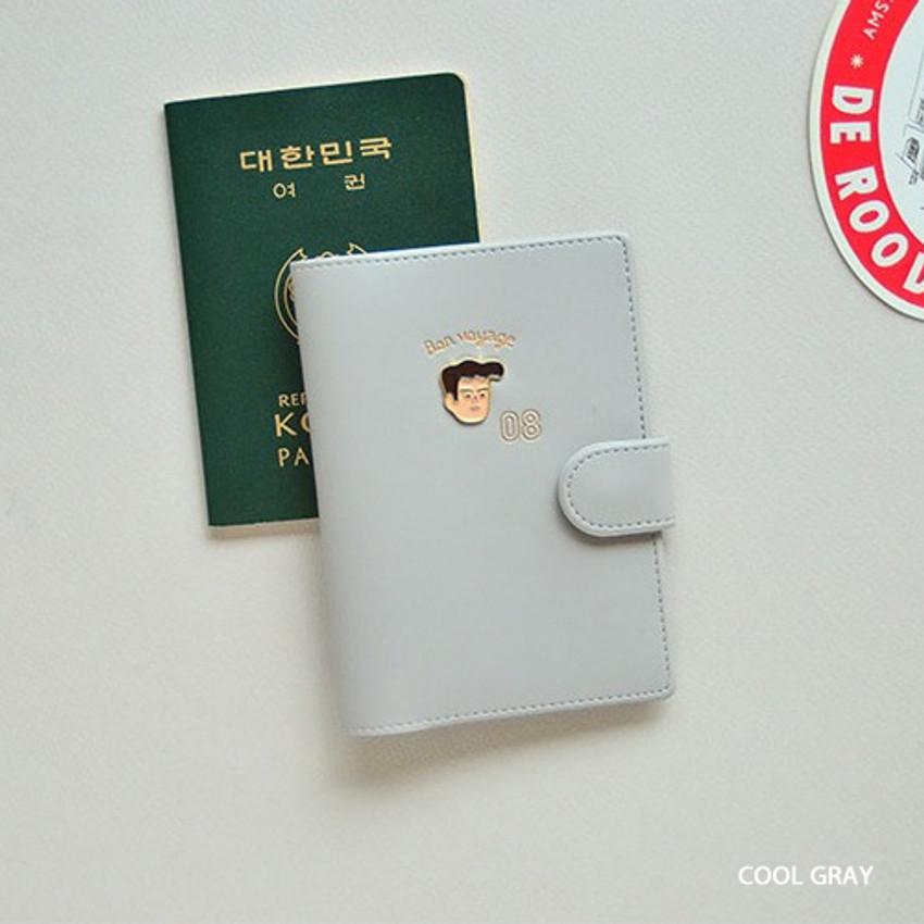 Cool gray - Du dum RFID blocking passport case holder