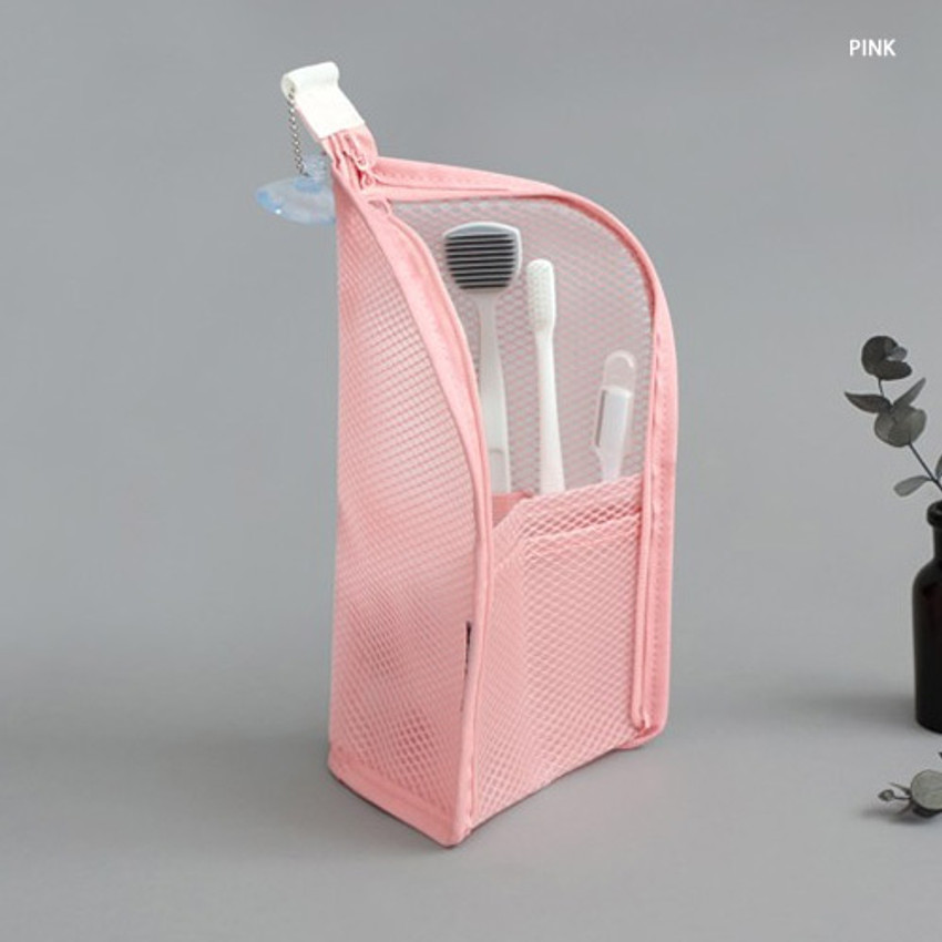 Pink - ICONIC Travel standing zipper toiletry pouch bag