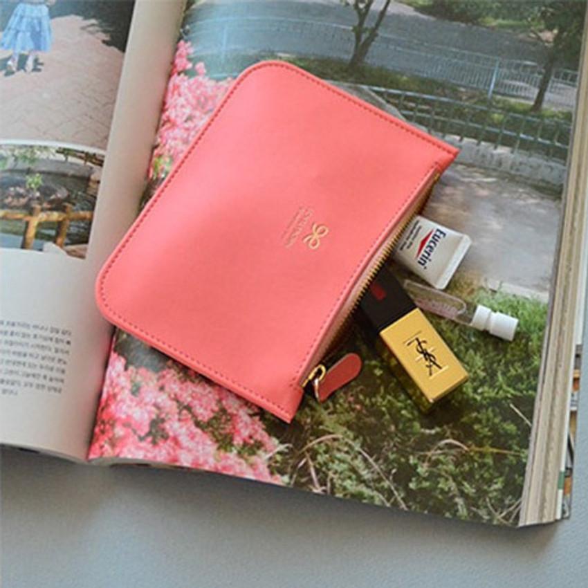 Sweet peach - Lovelyborn daily zipper flat small pouch
