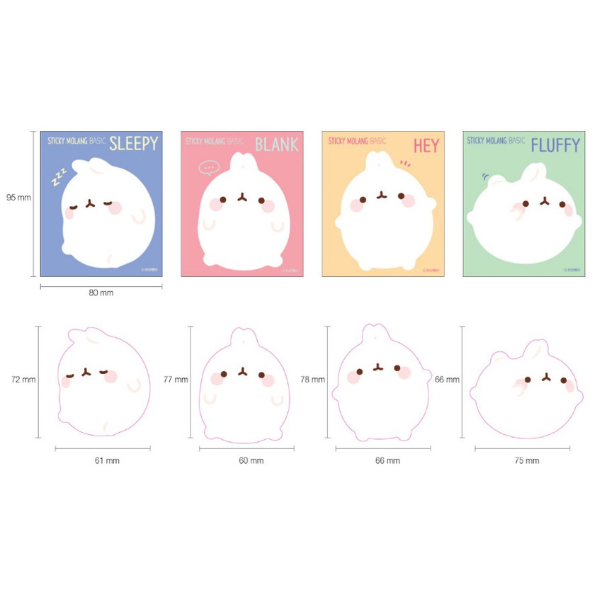 Bookcodi Molang basic cute sticky memo note ver3