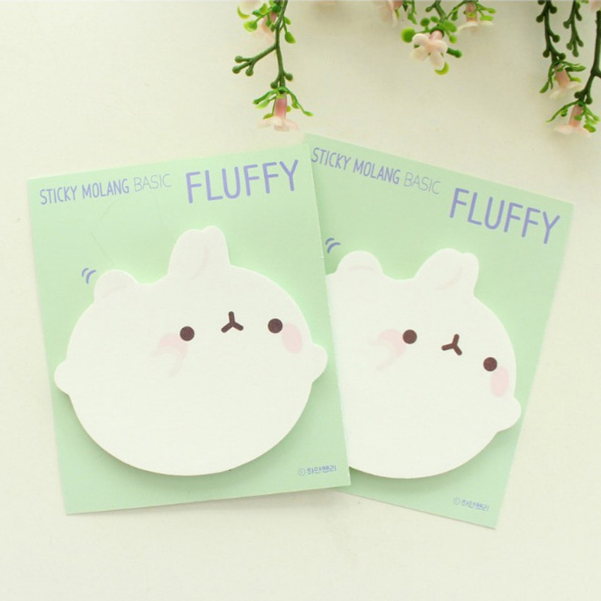 Fluffy - Bookcodi Molang basic cute sticky memo note ver3