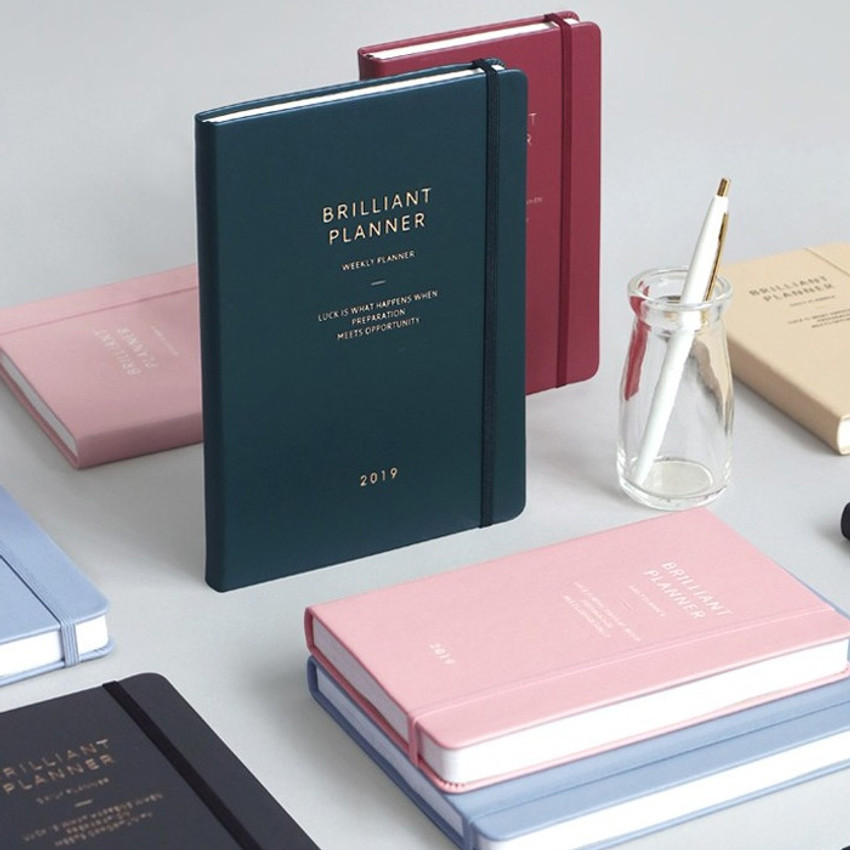 2019 Brilliant simple dated weekly planner