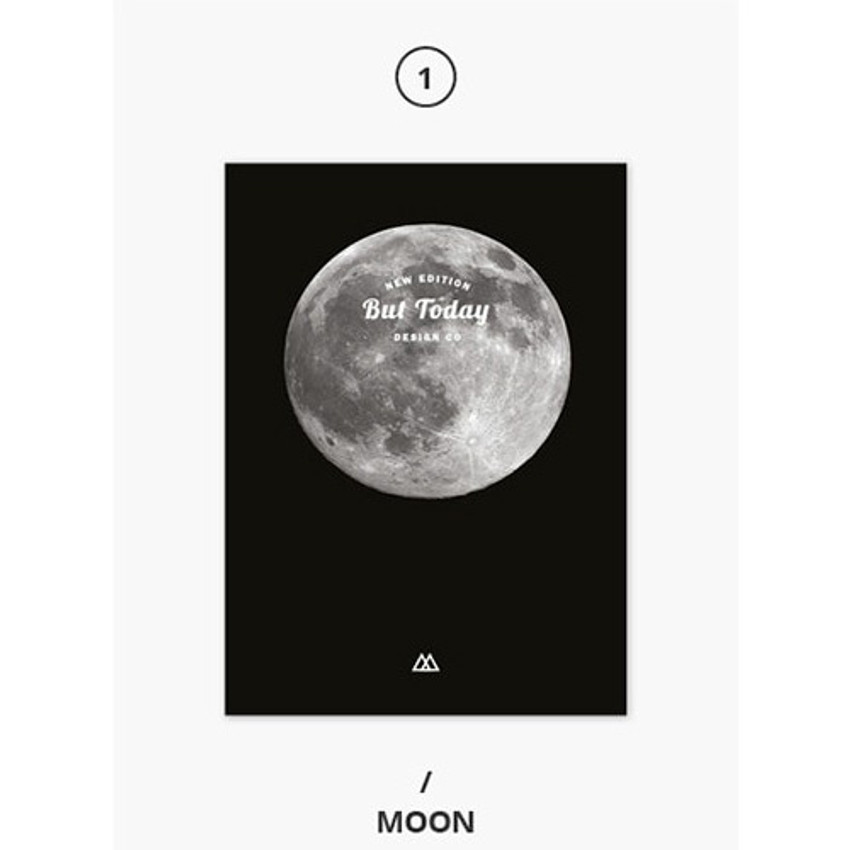 Moon - But today dateless weekly diary agenda ver5