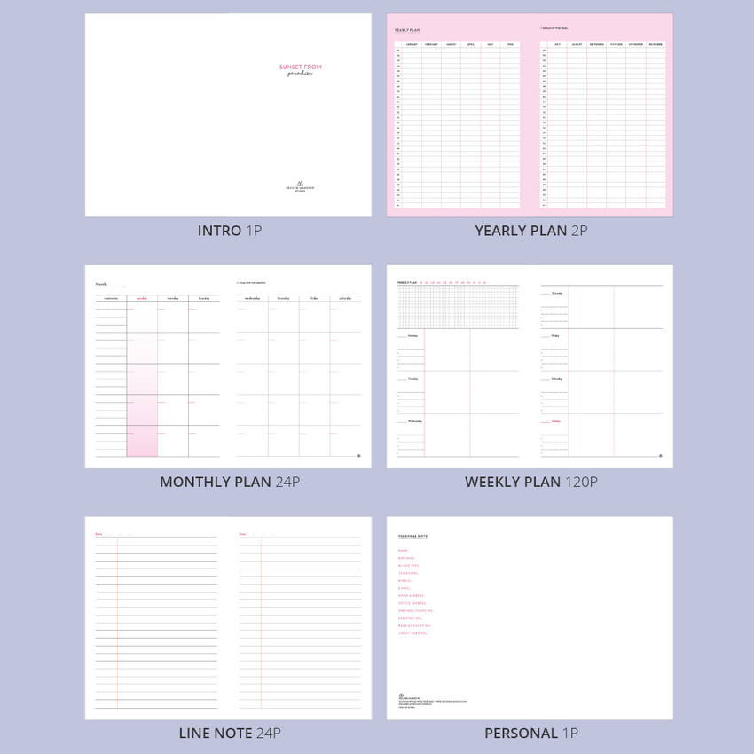Contents - But today dateless weekly diary agenda ver5