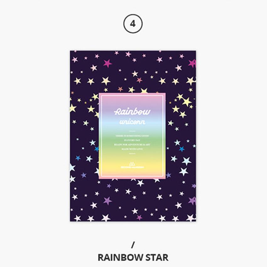 Rainbow star - Rainbow dateless weekly diary planner