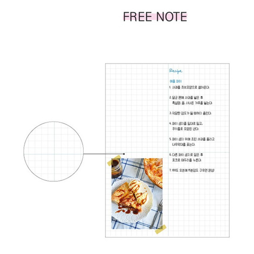 Free note - Rainbow dateless weekly diary planner