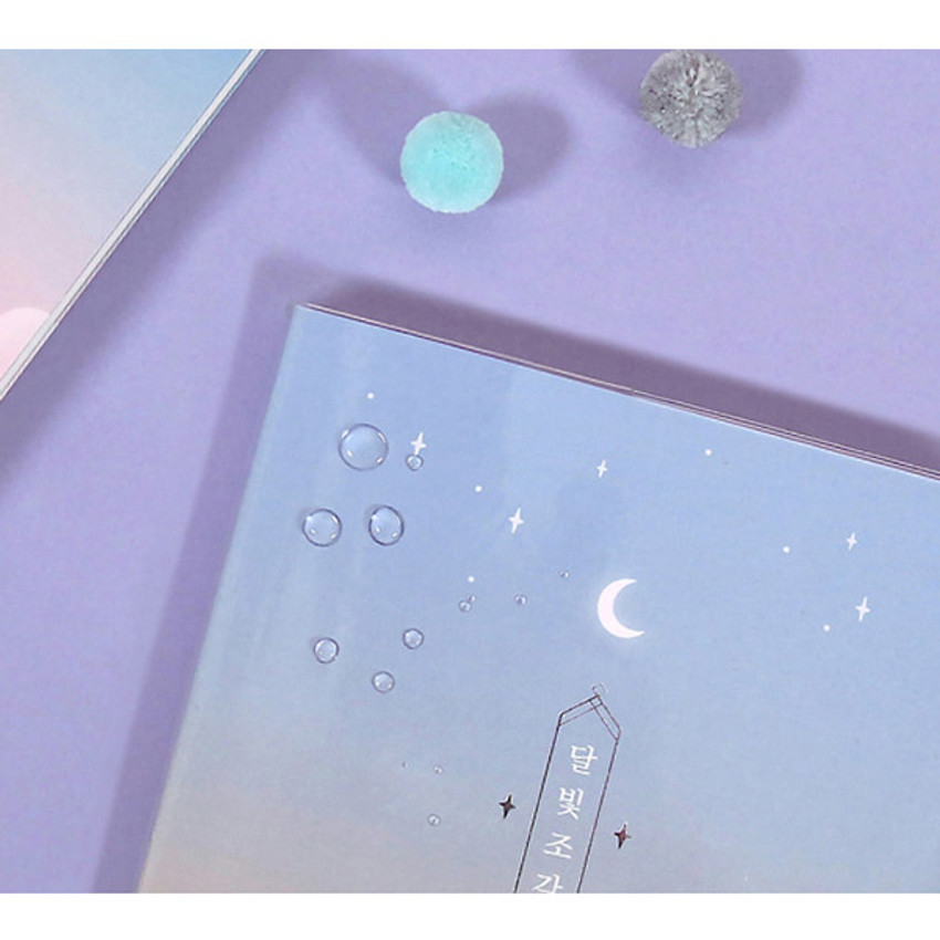 Clear PVC cover - Moon piece undated weekly diary planner