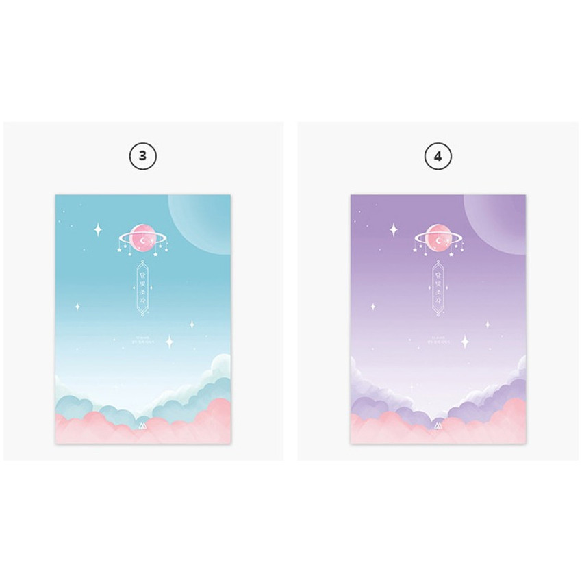 3, 4 - Moon piece undated weekly diary planner
