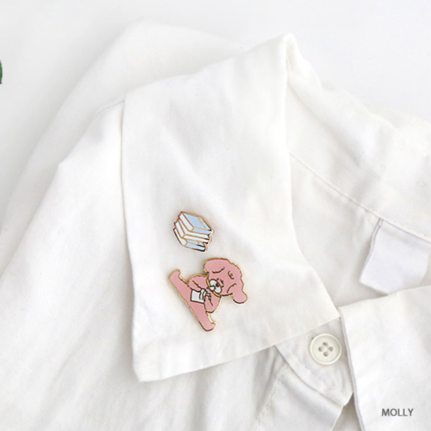 Molly - ROMANE My rolly pin badges set