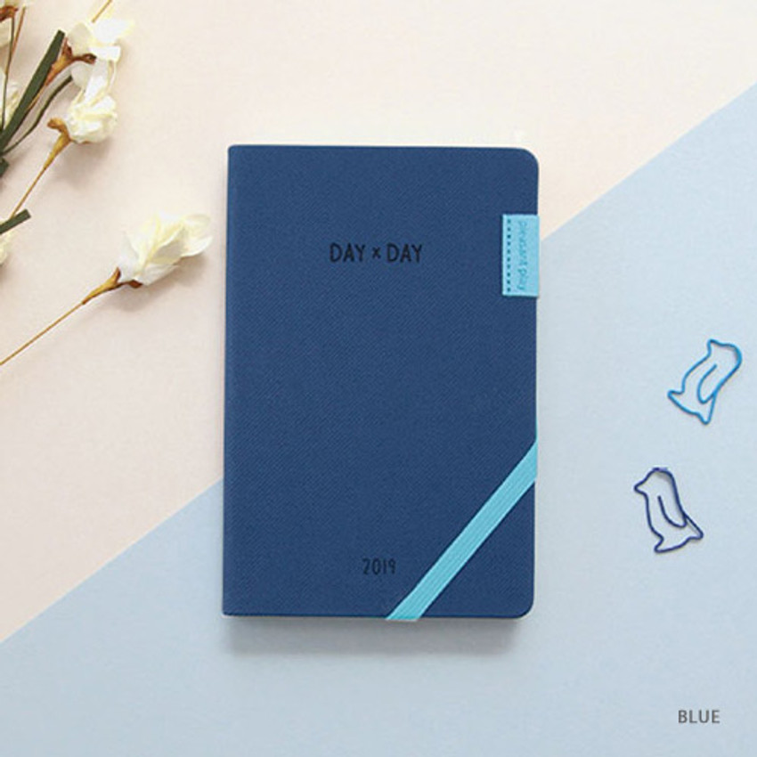 Blue - 2019 Day by Day small dated weekly diary