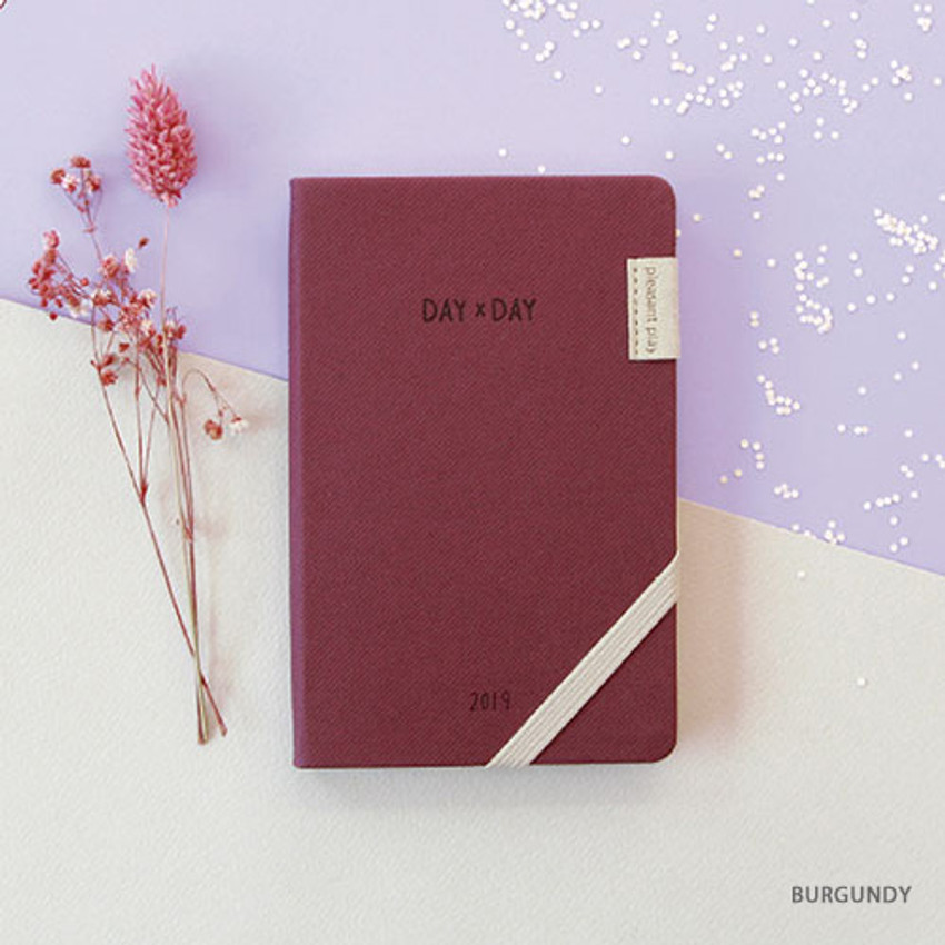 Burgundy - 2019 Day by Day small dated weekly diary