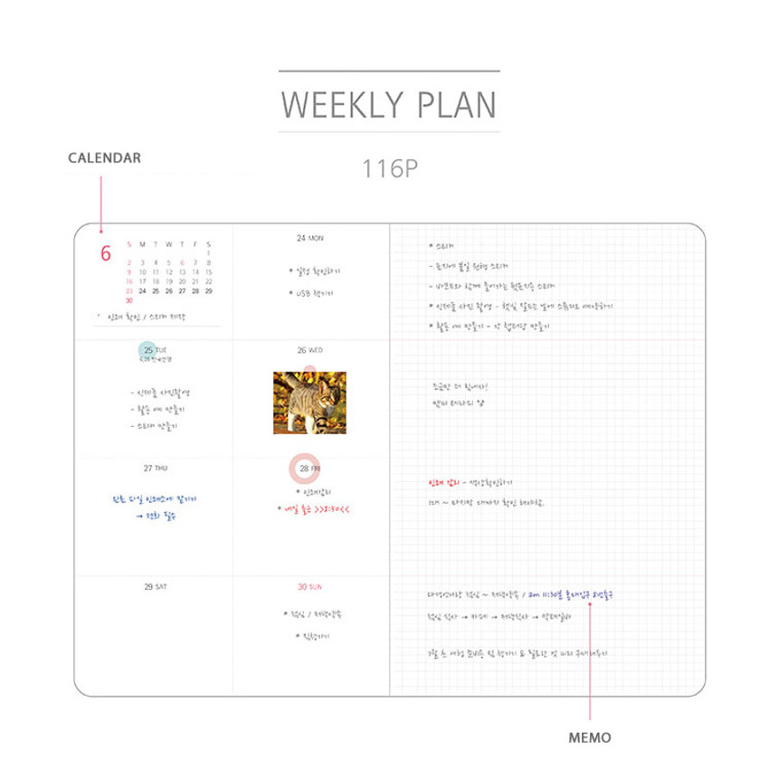 Weekly plan - 2019 Day by Day small dated weekly diary