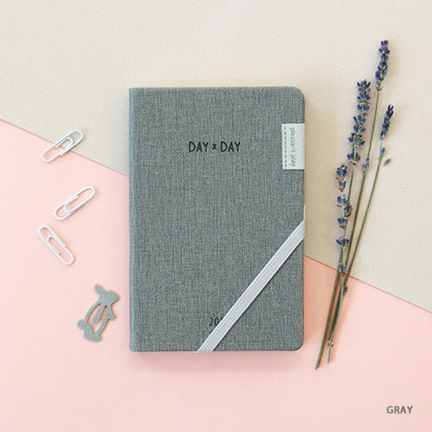 Gray - 2019 Day by Day small dated weekly diary