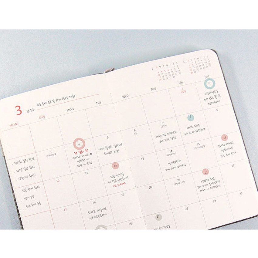 Monthly plan - 2019 Day by Day small dated weekly diary