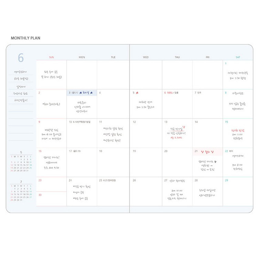 Monthly plan - 2019 My story small dated daily diary journal