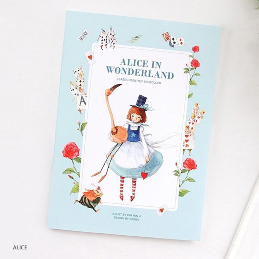 Alice in wonderland - Indigo Classic story undated monthly diary