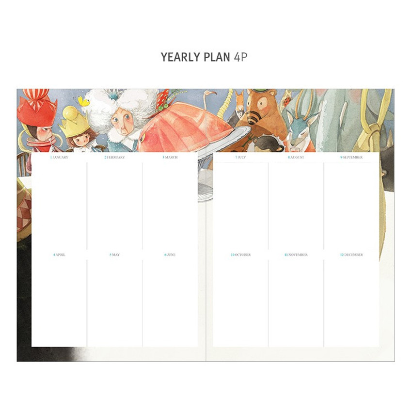 Yearly plan - Indigo Classic story undated monthly diary