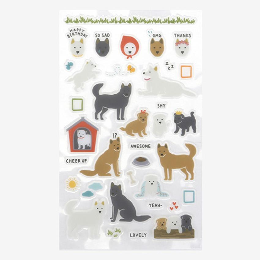 Daily transparent sticker - Jindo dog