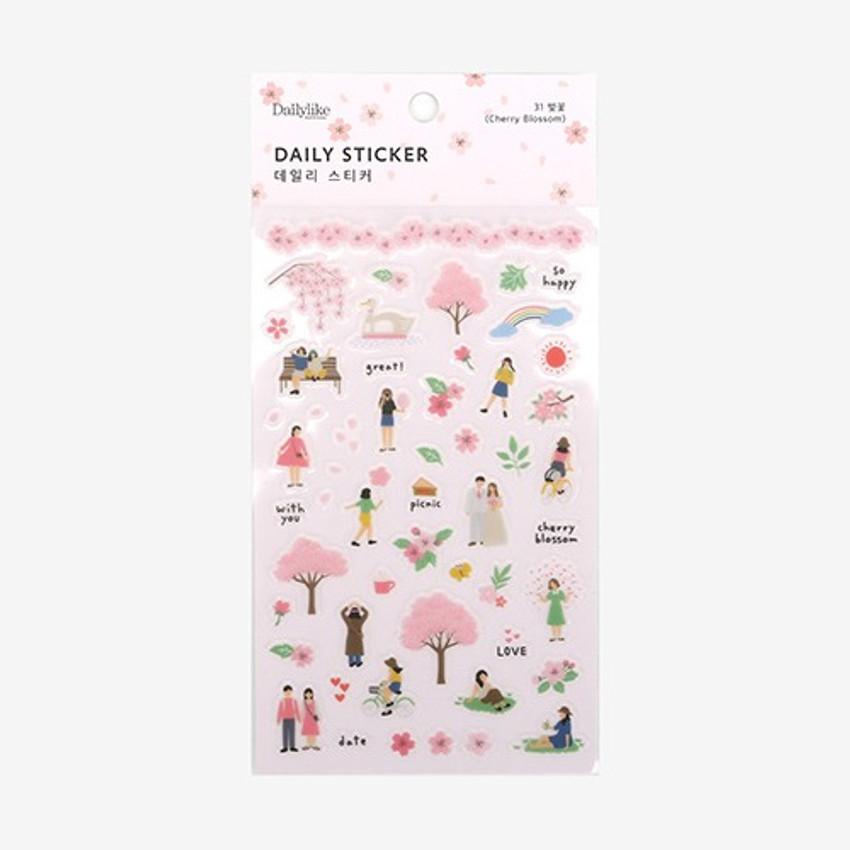 Package for Daily transparent sticker - Cherry blossom